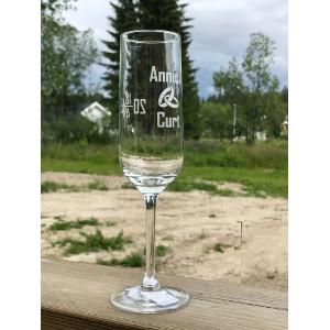 Champagneglas Bröllop - 2 sidor