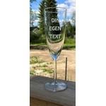 Champagneglas 2 - Egen text