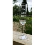 Champagneglas 1 - Egen text