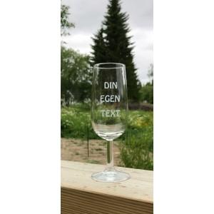 Champagneglas lågt - Egen text