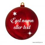 Namn/text till julgranskulor