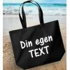 Stadig bag (bred botten) med egen text