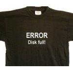 Error - Disk full