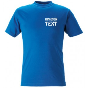 T-shirt - egen text, litet